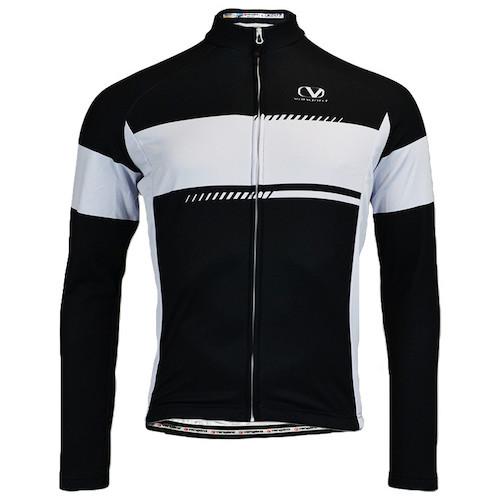 Vangard cykeltrøje med logo lange ærmer sort