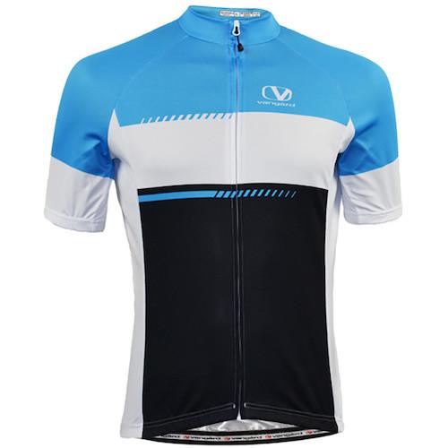 Vangard cykeltrøje med tryk model trend blå
