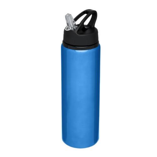 Alu-vandflaske-med-logo-800-ml-model-Fitz-blå