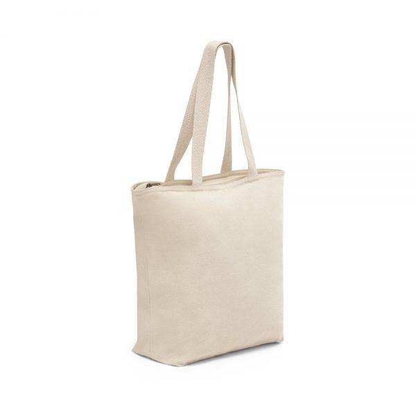Mulepose med tryk ekstra kraftig kanvas med lynlås