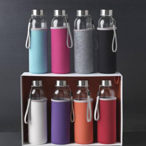 Vandflaske-i-glas-med-logo-på-sleeve-500-ml-model-Bodhi
