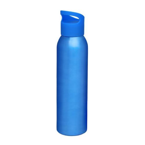 Alu-vandflaske-med-logo-sky-blå