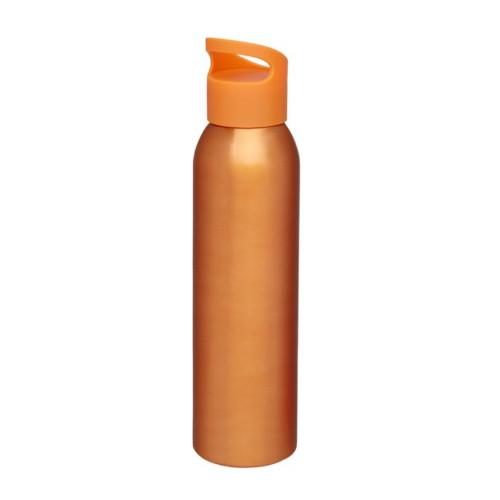 Alu-vandflaske-med-logo-sky-orange