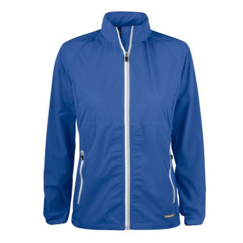 Softshell-jakke-med-logo-Cutter-Buck-Kamloops-dame-blå