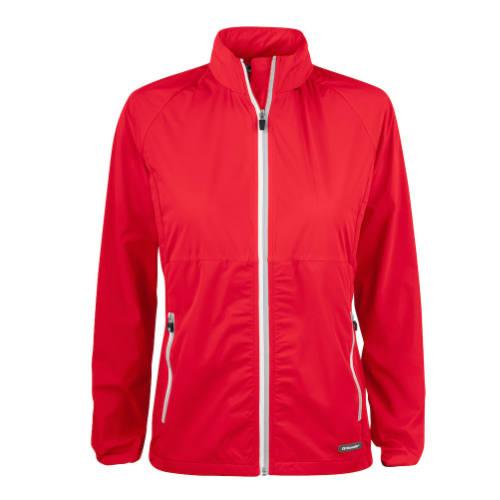 Softshell-jakke-med-logo-Cutter-Buck-Kamloops-dame-roed
