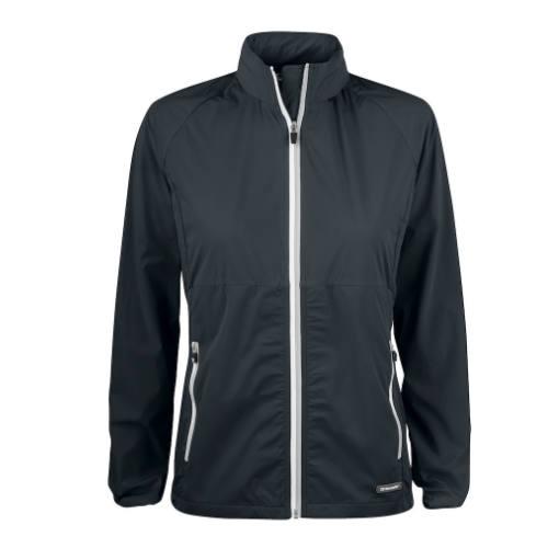 Softshell-jakke-med-logo-Cutter-Buck-Kamloops-dame-sort