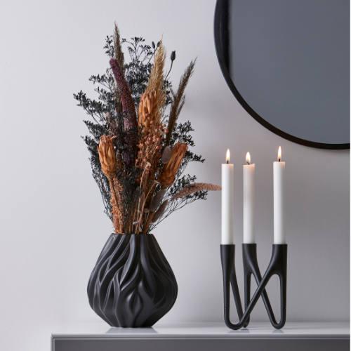 Morsø Flame vase og Roots lysestage