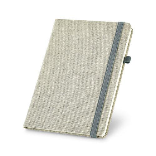 Notesbog med tryk, A5, omslag i lærred, model Carrey