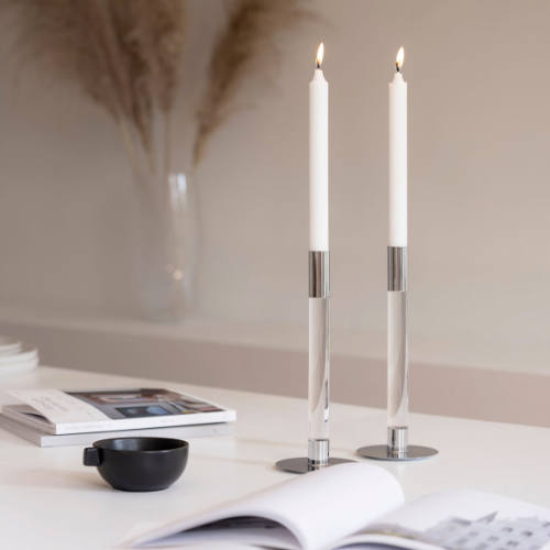Orrefors Lumiere lysestager 2-pak
