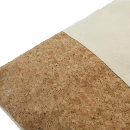 Mulepose i bomuld og kork detalje